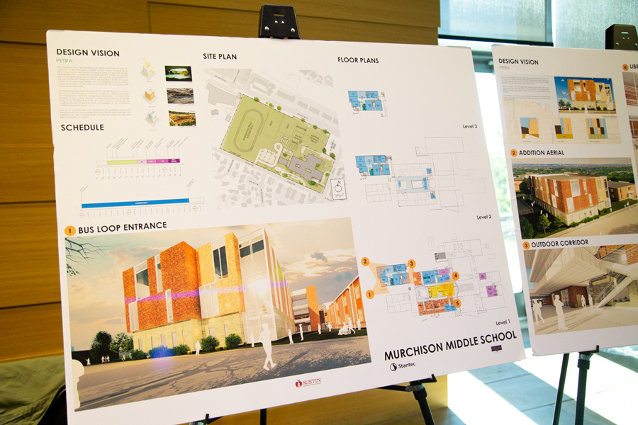 Murchison Middle School site plans.