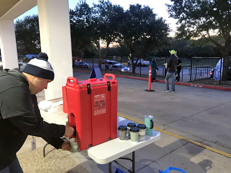 curbside coffee at Linder Elementary