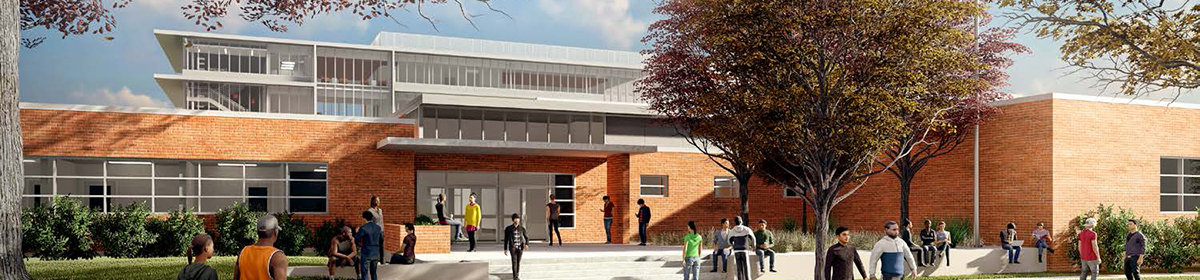 Eastside ECHS Exterior Entry Rendering