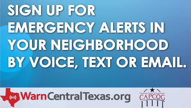 CAPCOG emergency message graphic