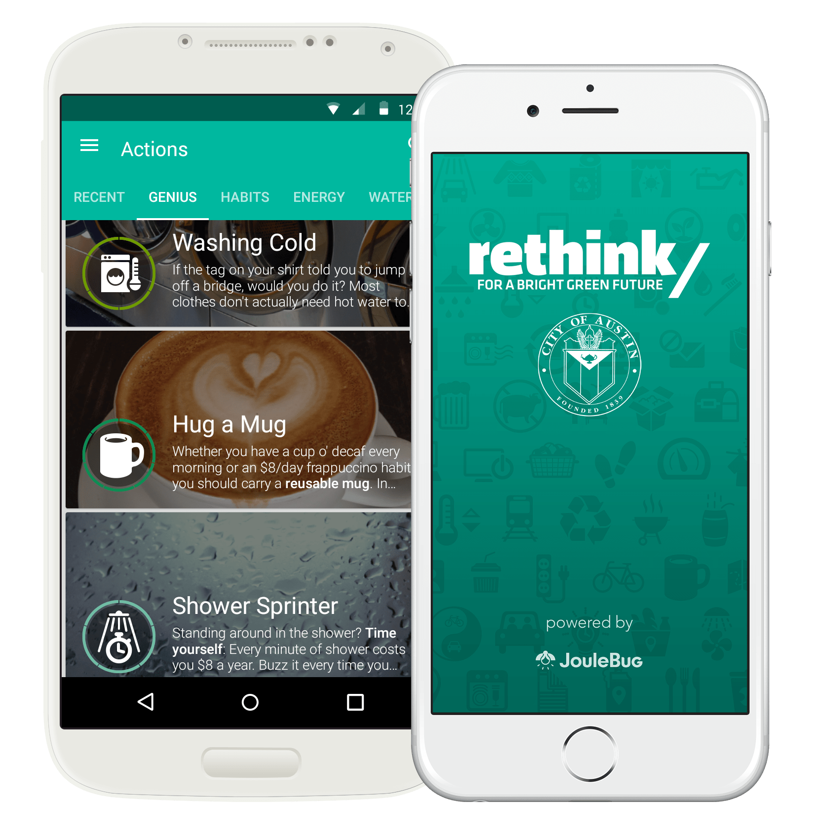 Mobile phone with rethink app